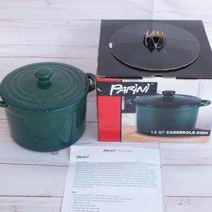 New Parini 1.5 QT Nonstick Casserole Dish Green
